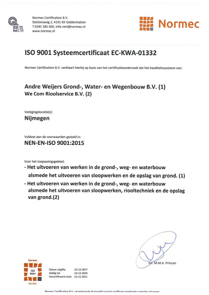 iso 9001 andre weijers